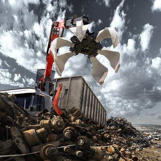 Heap of scrap metal at a waste yard