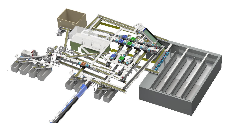 Le groupe Lybover construit un centre de tri innovant avec son partenaire Envac.