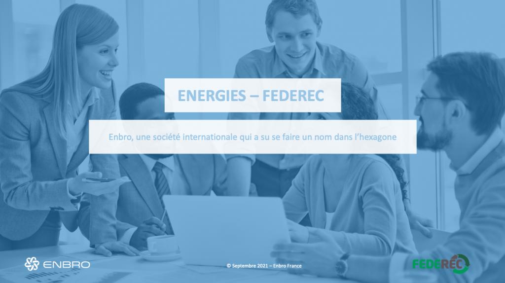 Enbro, courtier en énergie reconnu leader sur le marché européen, rejoint le Club Partenaires FEDEREC